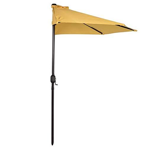 2.7m * 1.4m Halber Sonnenschirm Im Freien Markise Aus Polyester Mit Kurbelgriff Basis Nicht Enthalten, Für Den Garten Terrasse Patio