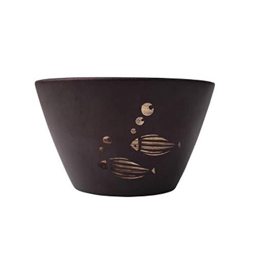 Ethan Japan Stijl Houten Bowl Handgemaakte Jujube Hout Kinderen Servies Pak voor Rijst/Noedels Tousehold Dinnerware.A