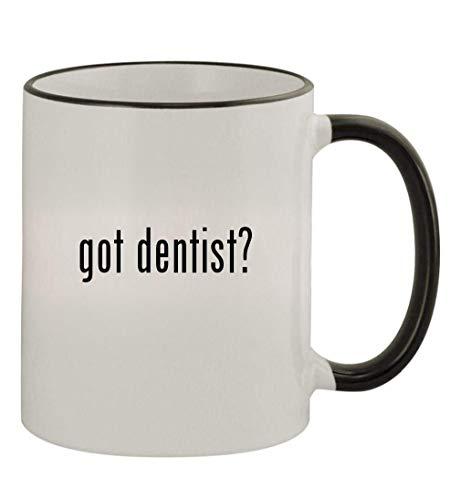 got dentist? - 11oz Colored Handle and Rim Coffee Mug, Black