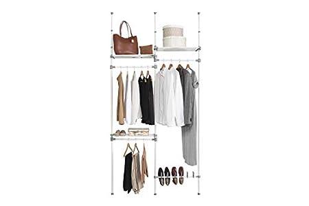 Kit Closet Kit vestidor nº 4, Metal, 240/280 x 126 x 25