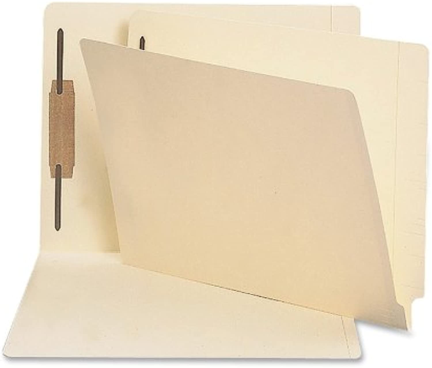 Antimicrobial One-Fastener End Tab Folder, Letter, 11 Point Manila, 50 Box