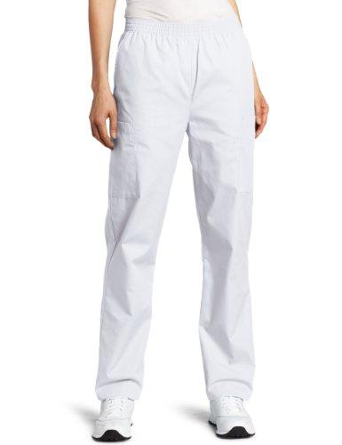 Dickies Scrubs Women's Elastic Waist Pant, White, XX-Large
