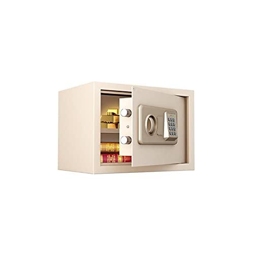 ZXNRTU Cajas de seguridad para el hogar, Caja fuerte |Prueba de fuego Digital Lock Caja fuerte |Inicio acero de la combinación de seguridad electrónica con teclado |2 teclas de modificación manual |pa