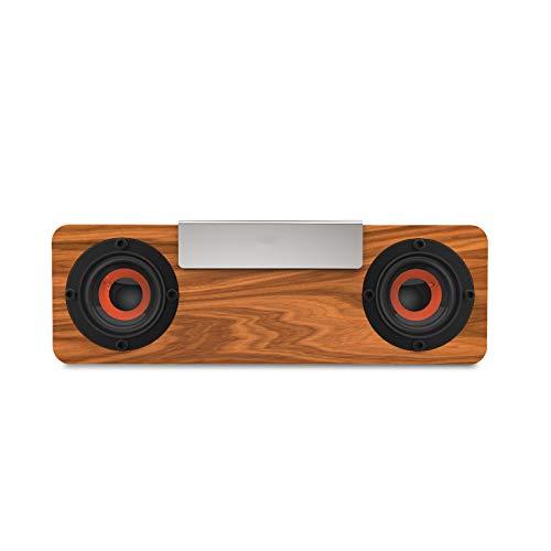 DaMohony Altavoz inalámbrico de madera portátil TWS altavoz estéreo subwoofer para teléfono móvil tableta PC 4-5h Playhour