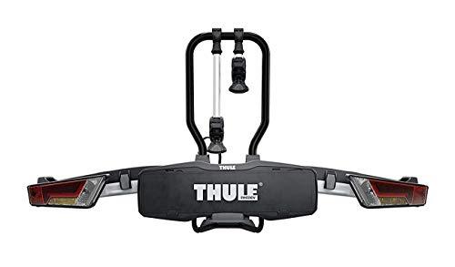 Thule EasyFold XT 2, Portabicicletas para bola de remolque totalmente plegable, compacto, para todo tipo de bicicletas.