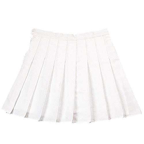 N\P Faldas plisadas de cintura alta para mujer, falda de línea A, mini faldas de verano, casual para niñas