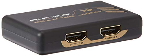 ALURATEK 615104250741Aluratek 4K 1X2 HDMI Video Splitter,Support 3D for Amazon Fire TV, Chromecast, Apple TV, DVR, PC and HDMI displays Including HDTV and Projector