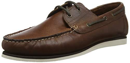 Red Tape Men's Helford Boat Shoes, Brown (Wood 0), 9 UK(43 EU)