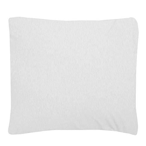Sleepdown Jersey melange vitt örngott parpaket varm mysig enkel vård vanligt garn färgat kuddöverdrag säng linne 80 cm x 80 cm, polycotton