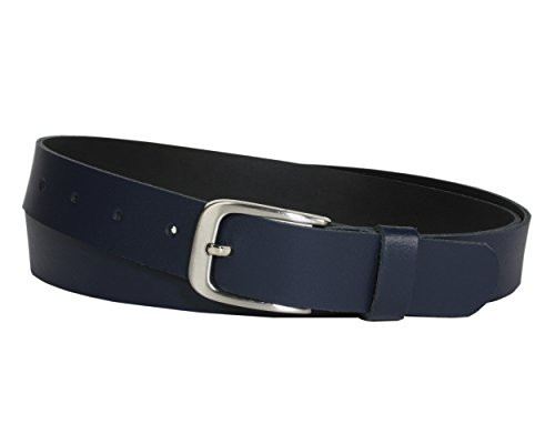Vascavi Ledergürtel, 3 cm breit, Made in Germany, echt Leder Gürtel für Damen und Herren, kürzbar (105 cm Gesamtlänge 115 cm, Dunkelblau)