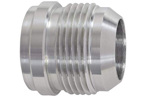 ICT Billet Aluminum -16AN Weld On Bung Male Hose End Nipple Weldable 16 AN Flare Thread Connector Fluid Designed & Manufactured in the USA Bare AN970-16A