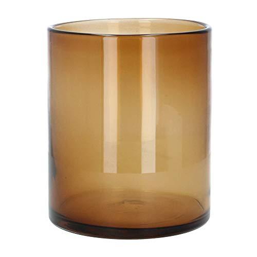 Nordal vaas bloemenvaas kaarsglas windlicht Browni 23 cm bruin