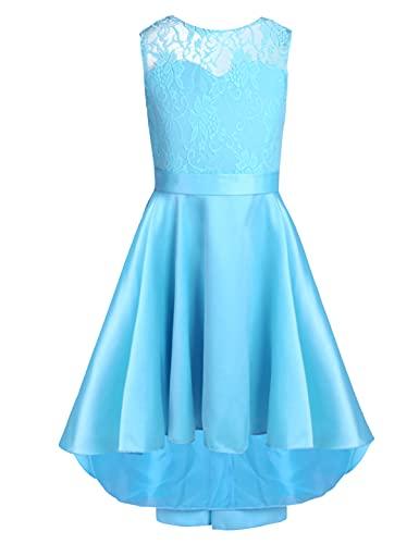 iEFiEL iEFiEL Kinder Kleider festlich Mädchen Taufkleid Blumenmädchenkleid Prinzessin Hochzeit Party Kleid 104 116 128 140 152 164 176 Himmelblau 140