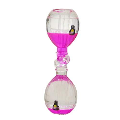 Healifty Flüssigtimer Sanduhr Figur Heißluftballon Form Schreibtisch Dekor Flüssigtimer Öl Sanduhr für Geburtstagsgeschenk Spielzeug (zufällige Farbe)