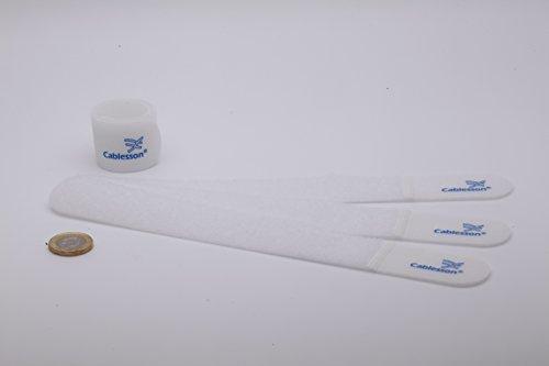 Cablesson Sujetacables de Velcro y Nylon Gancho y Lazo liberables y Reutilizables-...