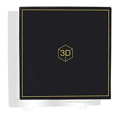 235 * 235mm Cama Caliente Placa De Acero con Plataforma Pegatina Magnetica,...