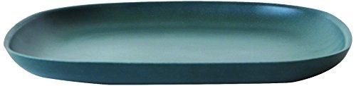 BIOBU Gusto by eKOBO 34796 Petites Assiettes 23 x 23 x 2,5 cm Bleu pour Femme Noir