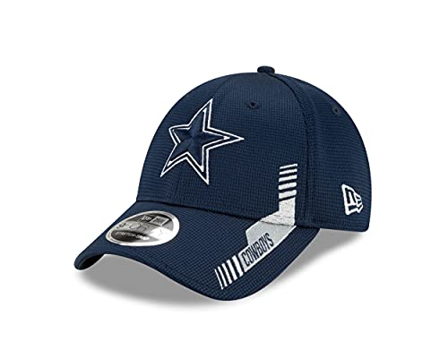 New Era Dallas Cowboys NFL 2021 Sideline Home Navy 9Forty Stretch Snap Cap - One-Size