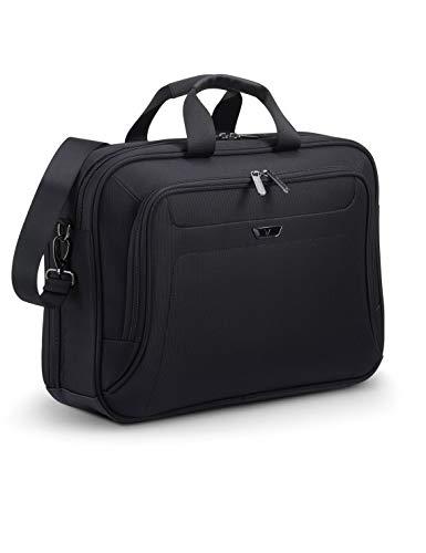 RONCATO Work borsa porta pc & tablet con tracolla e organizer interno Nero