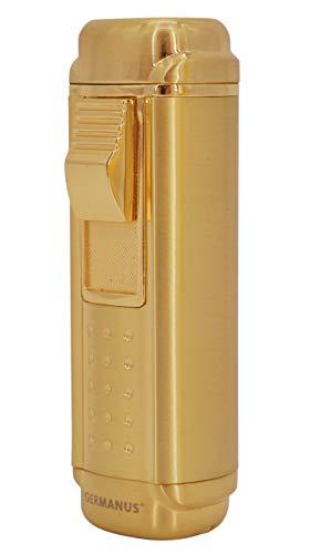 GERMANUS Jetflame Feuerzeug Stick mit 4 Flammen, Gold