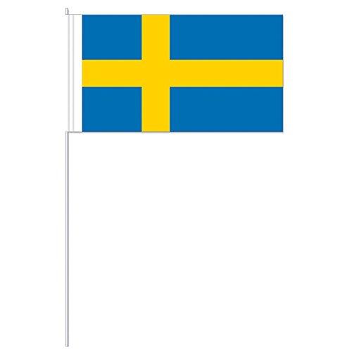 DH-Konzept Papier-Fahnen Schweden 10er Pack