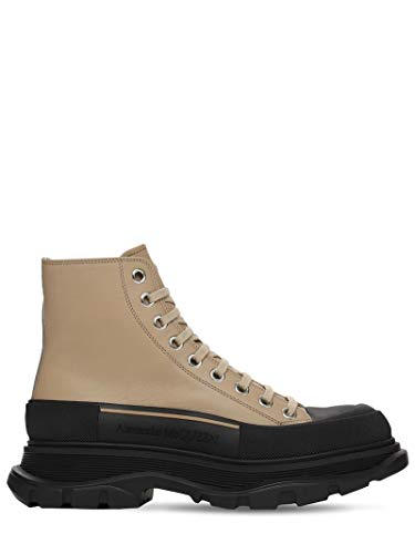 Alexander McQueen Black/Brown Tread Sneakers New/Authentic (Numeric_10_Point_5)