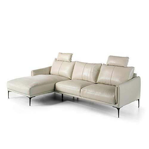 ANGEL CERDÁ | Liegestuhl, gepolstert aus Rindsleder, verstellbare Kopfstützen, Beine aus poliertem Stahl, dunkel massiv, moderner Stil