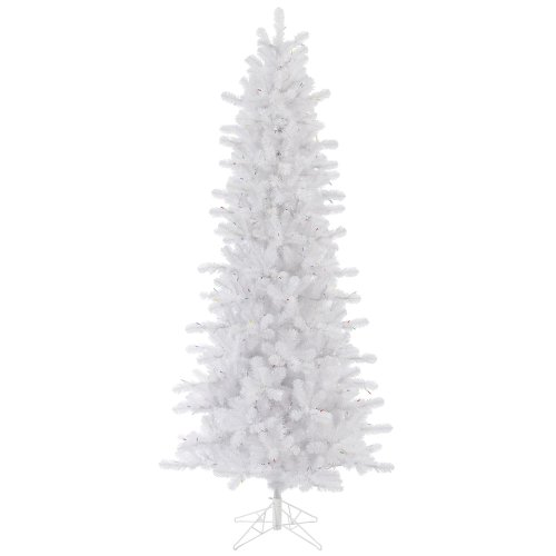Vickerman 75' Unlit Crystal White Pine Artificial Christmas Slim Tree