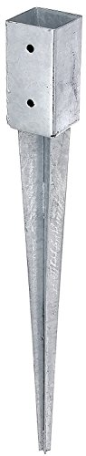 Opvouwbare grondhuls voor palen Grondhuls Opvouwbare mouwpaalsteun Opvouwbare grondhulspaalanker verzinkt 71x71x750mm