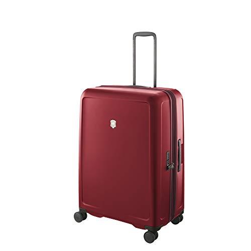 Victorinox Connex Large Hardside Case - Valise Extensible - Bagage Rigide Grande Taille - 4 roulettes -31x52x75cm - 107l - 4,7Kg - Rouge