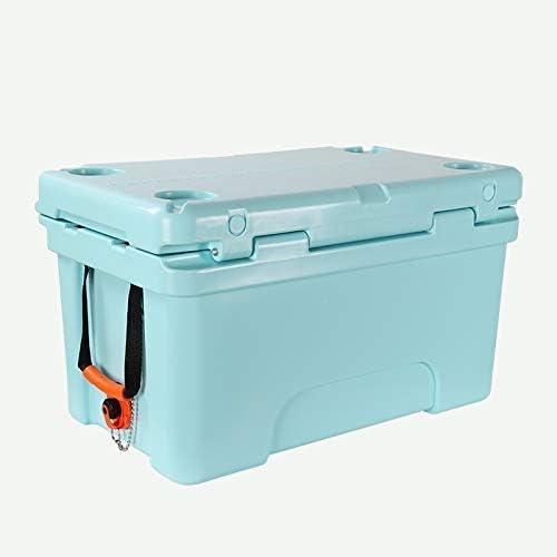 MJK Glacière, glacière personnelle portable à économie d'énergie 50L - Hardbody Cooler - Boîte de refroidissement pour le lait, les médicaments, la cuisine ou les aliments en plein air,Bue