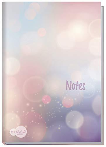 Notizbuch A5 liniert [Bubbles] von Trendstuff by Häfft | als Tagebuch, Bullet Journal, Ideenbuch, Schreibheft | stylish, robust, biegsam, abwischbares Cover