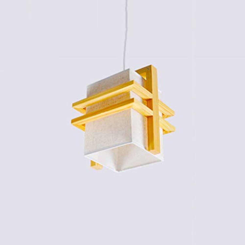 JIAQI High-End-Mode aus massivem Holz Kronleuchter modernen minimalistischen Wohnzimmer Esszimmer Schlafzimmer Studie Eiche Stoff Kronleuchter (Größe   A)