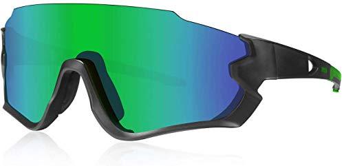ZoliTime Polarisierte Sportbrillen Fahrradbrille UV400 4 Lens Running Fishing Driver Sonnenbrille BMX Fahrradbrille