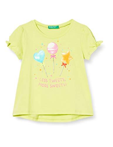 United Colors of Benetton T-Shirt Camiseta de Tirantes, Amarillo (Limeade 28m), 80/86 (Talla del Fabricante: 1Y) para Bebés