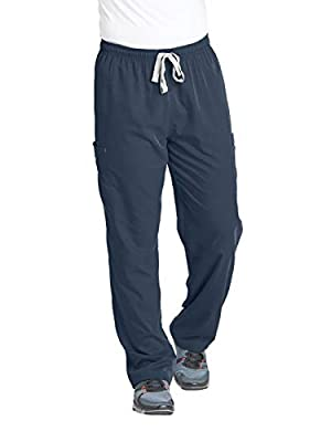 Grey's Anatomy Men's Modern Fit Cargo Scrub Pant, Steel, Large