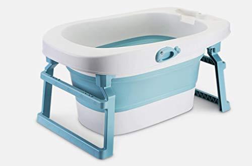 Baignoire de sécurité, hôpital de baril de baignoire en plastique épais for enfants Go Out Cylindre de douche portable Seau de douche for enfant bicolore (Color : Blue, Size : 84 * 55.5 * 43.7CM)