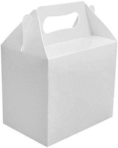 24 x Blanc Uni Boites Fête Nourriture Jouet Butin Déjeuner Jeu Cadeau Marriage/Enfants