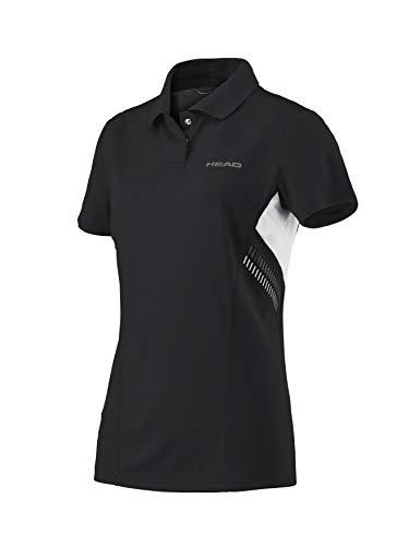 Head - Camiseta técnica Tipo Polo, para Mujer, Mujer, Color Negro, tamaño XS