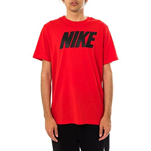 NIKE Sportswear Camiseta, Universite Red/Black, L para Hombre