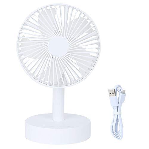 USB-ventilator, geruisloze miniventilator, persoonlijke draagbare pc-ventilator, 360 graden draaibaar, voor kantoor, thuis, op reis, op school, met USB-aansluiting, CE-, RoHS- en PCC-gecertificeerd, zwart