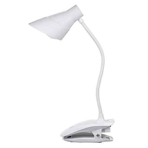 Borlai Lámpara con Clip Luz de Lectura Luz de Escritorio Usb Recargable Luz de Lectura Nocturna 7Led con 3 Niveles de Brillo