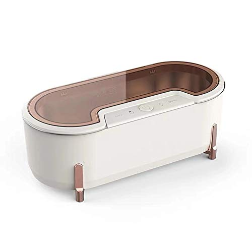 ADELALILI Ultraschall-Reinigungsgerät Objektiv Waschmaschine Kontaktlinsen-Uhr-Schmucksache-Reinigungs-Sterilisator mit 4 Modi Kleinen Purifier (Color : Weiß)