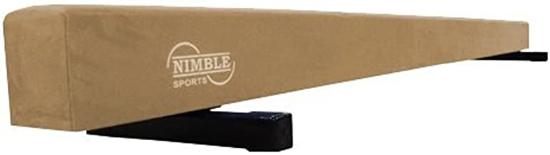 Nimble Sports Wood Core Tan Suede Practice Balance Beam 8 Feet Long 6 Inches High