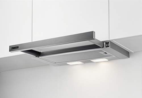 Zanussi ZHP60260SA Flachschirm-Dunstabzugshaube/Abluft oder Umluft / 60cm / Silberfarben/max. 120 m³/h/min. 68 – max. 72 dB(A)