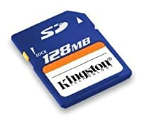 Kingston 128 MB Secure Digital Memory Card (SD/128) (Retail Package)