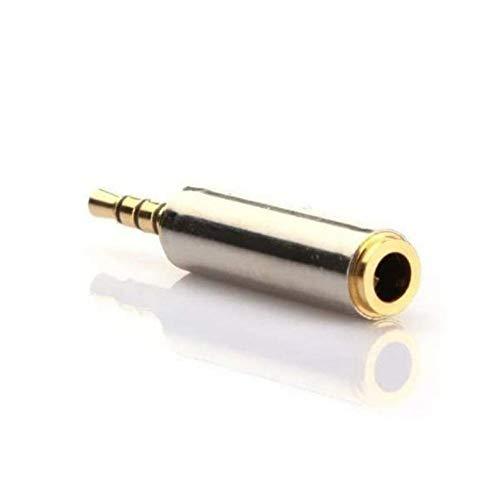 Adaptador conversor Mini Jack 2,5mm estéreo Macho a Micro Jack 3.5 mm estéreo Hembra