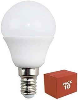 10x Bombilla LED E14, iluminacion 5W (400 lm), 4000K (luz neutra)