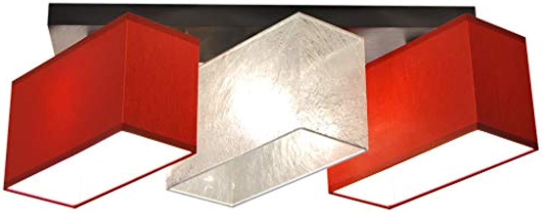 Deckenlampe - HausLeuchten JLS3185D, Deckenleuchte, Leuchte, Lampe, 3-flammig, Massivholz