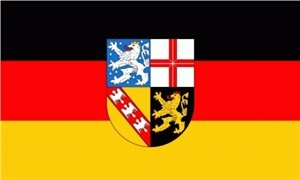 Saarland Fahne Flagge Grösse 90x60cm - FRIP –Versand®